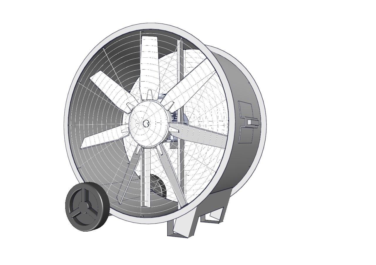 circulador de aire con aspa de aluminio