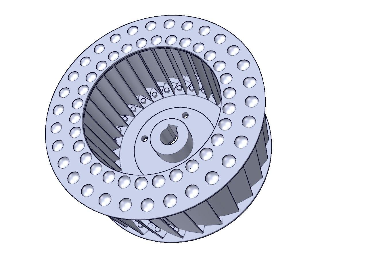 turbina con remaches en cuatro puntos