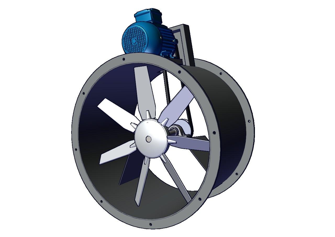 ventilador turboaxial industrial
