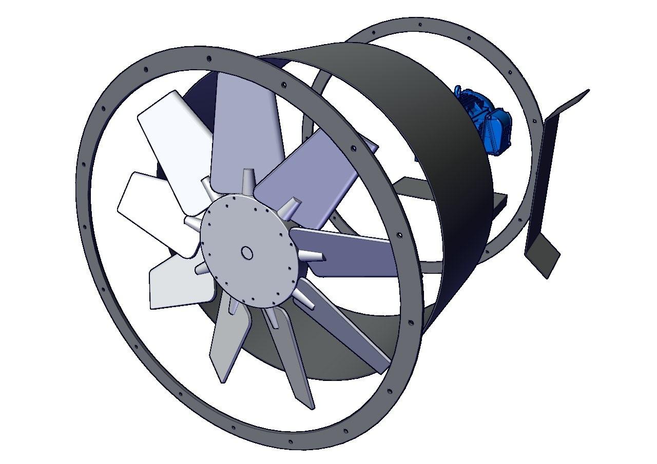 ventiladores tubular axial