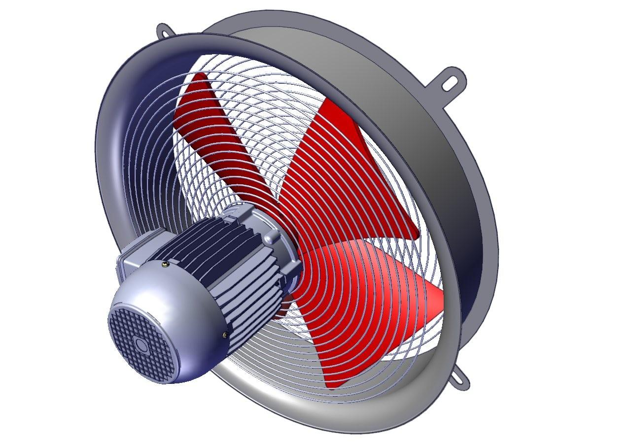 ventilador tuboaxial de acople directo para transformadores