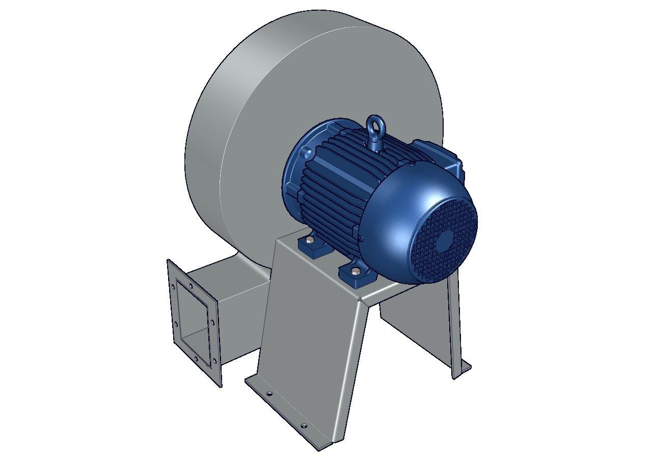 ventilador centrifugo de aspas radiales de fundicion de aluminio