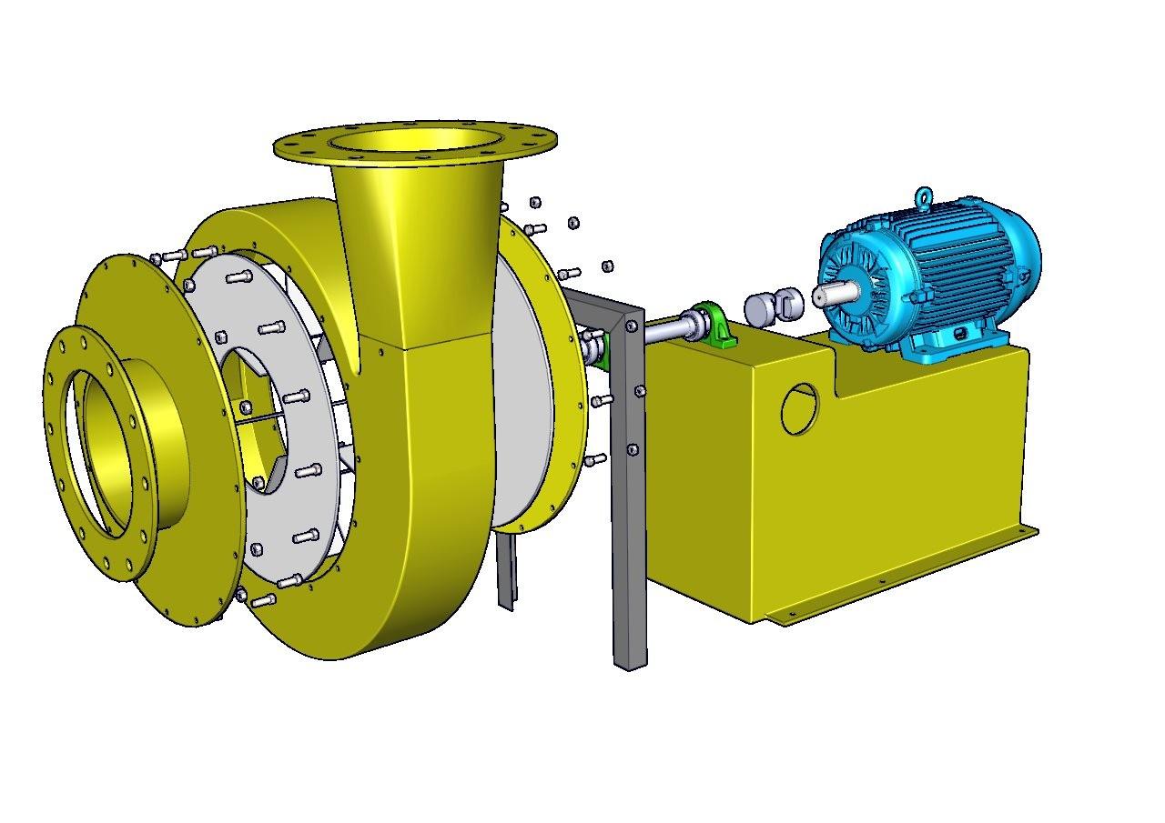 despiece de ventilador centrifugo