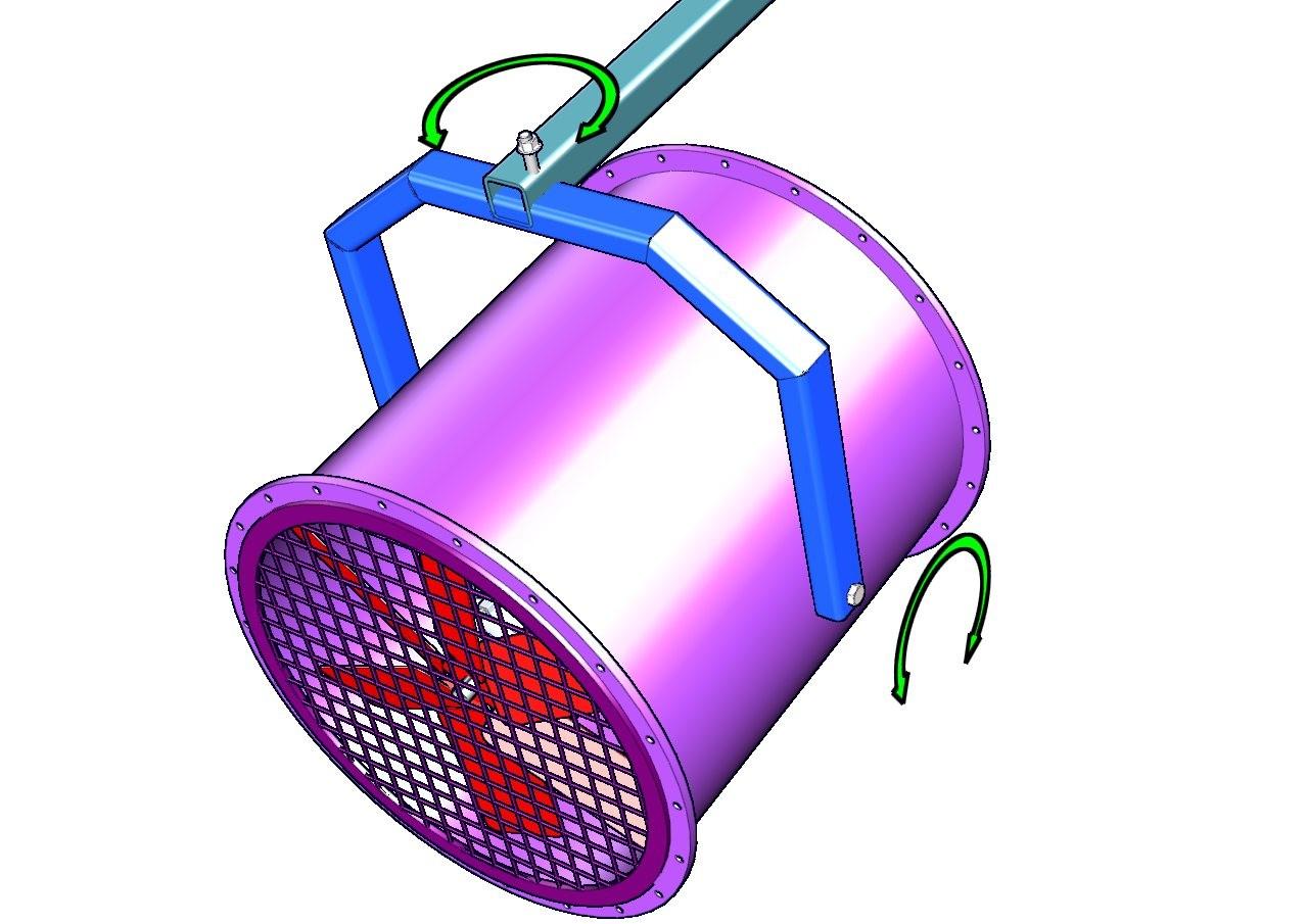 ventilador tuboaxial para circulación de aire