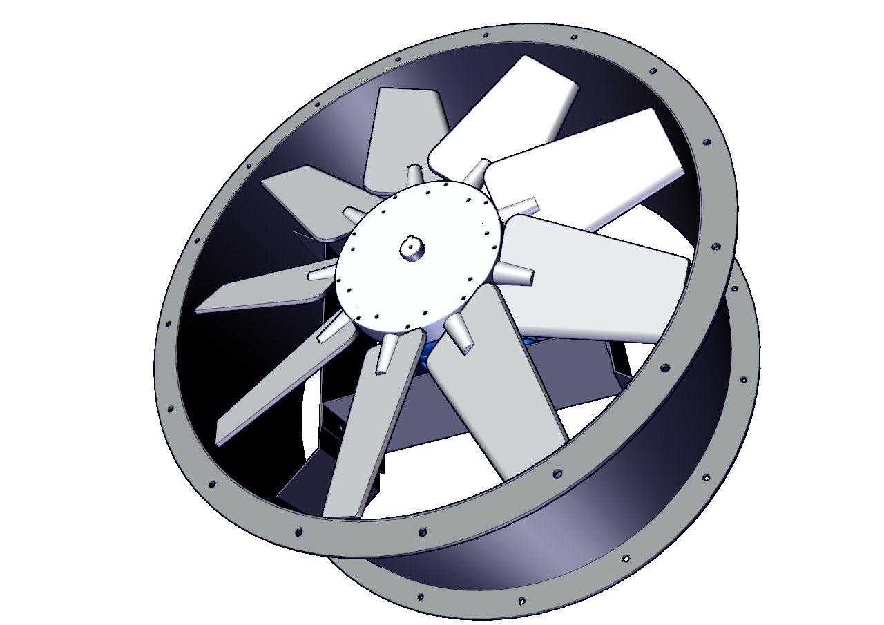 ventiladores tuboaxiales de acople directo