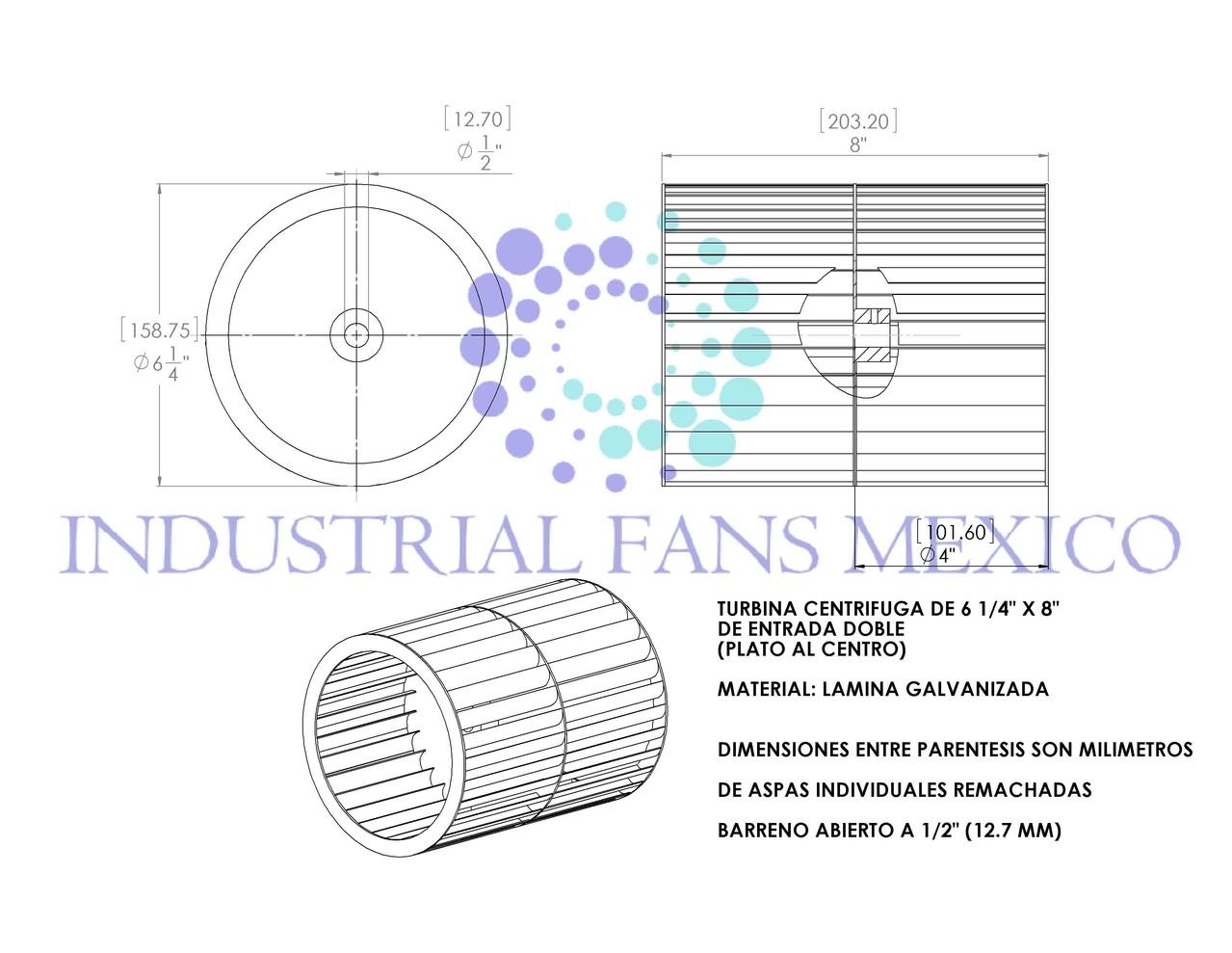 planos de turbinas de aire