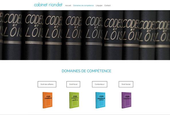 Création de site Cabinet d'avocats Riondet