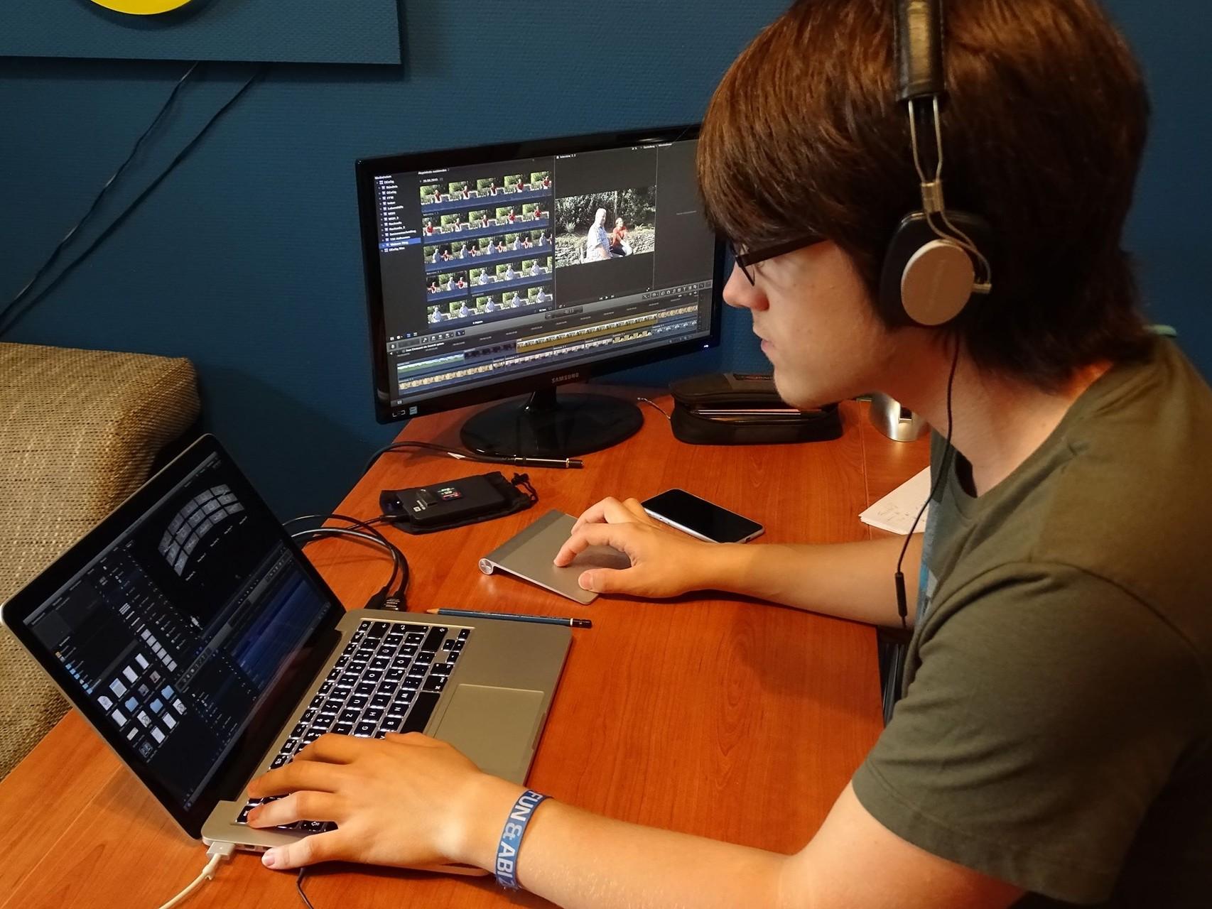 Lukas in Aktion - fragt nicht, wie viele Stunden Filmmaterial wir haben ;)