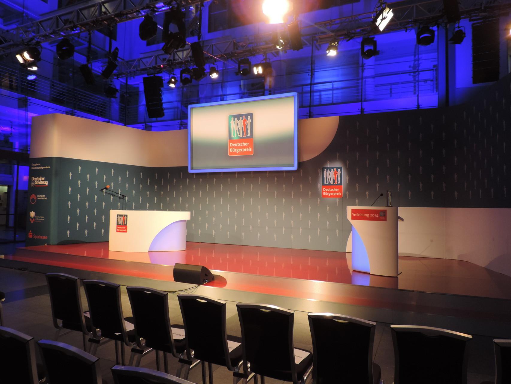 Da war das ZDF-Studio noch leer...