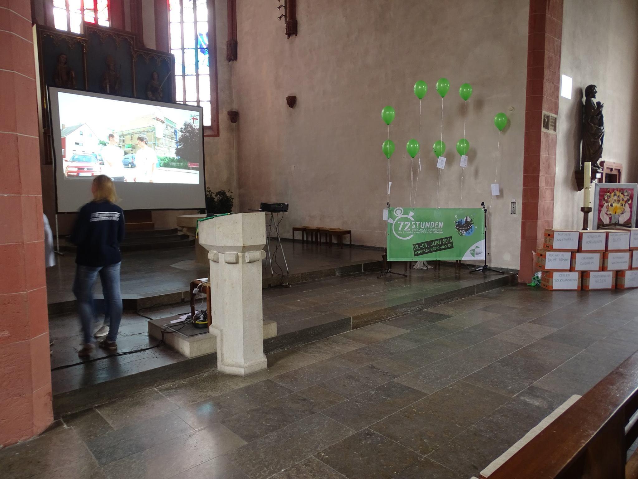 Eröffnungsfeier in Haßfurt - die 72 Stunden laufen :)