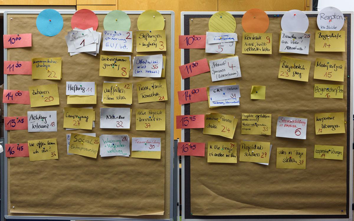 Und das waren die Ergebnisse: Zu diesen Themen wurden Gesprächsrunden angeboten...