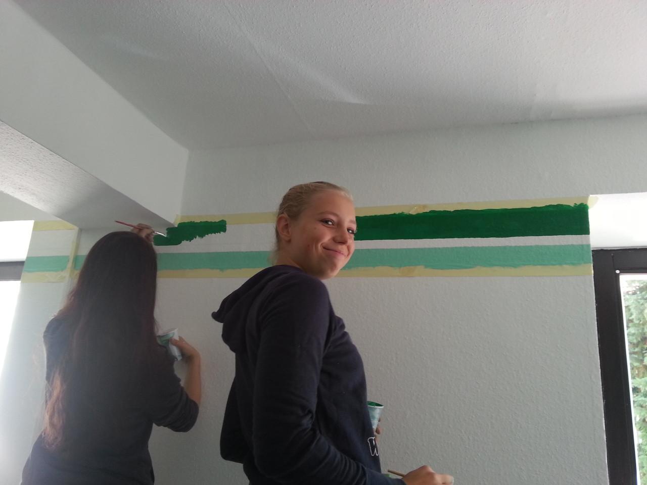 Auch der dunkelgrüne Streifen folgt - in Anlehnung an unser Briefdesign