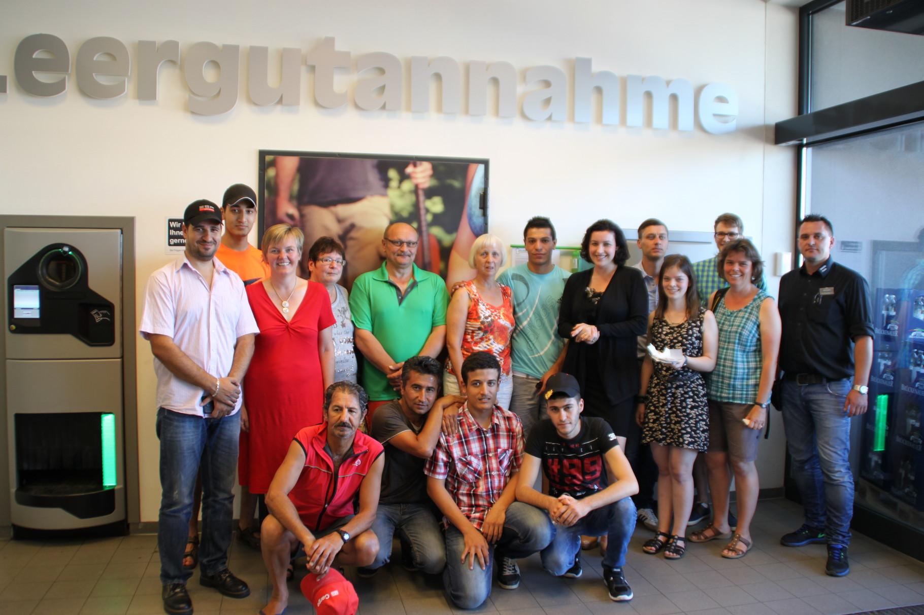 Geändertes Spendenziel der Pfandbox in Knetzgau: Wir unterstützen über das Bündnis für Familien und Senioren Knetzgau den Freundeskreis Asyl