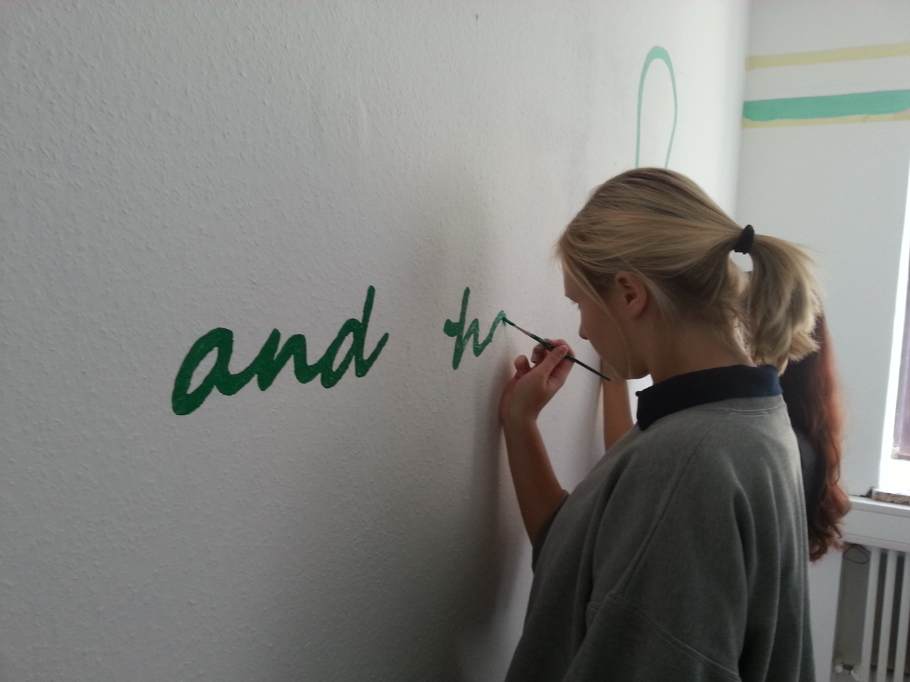 Ein Motto - grün auf weiß ;)