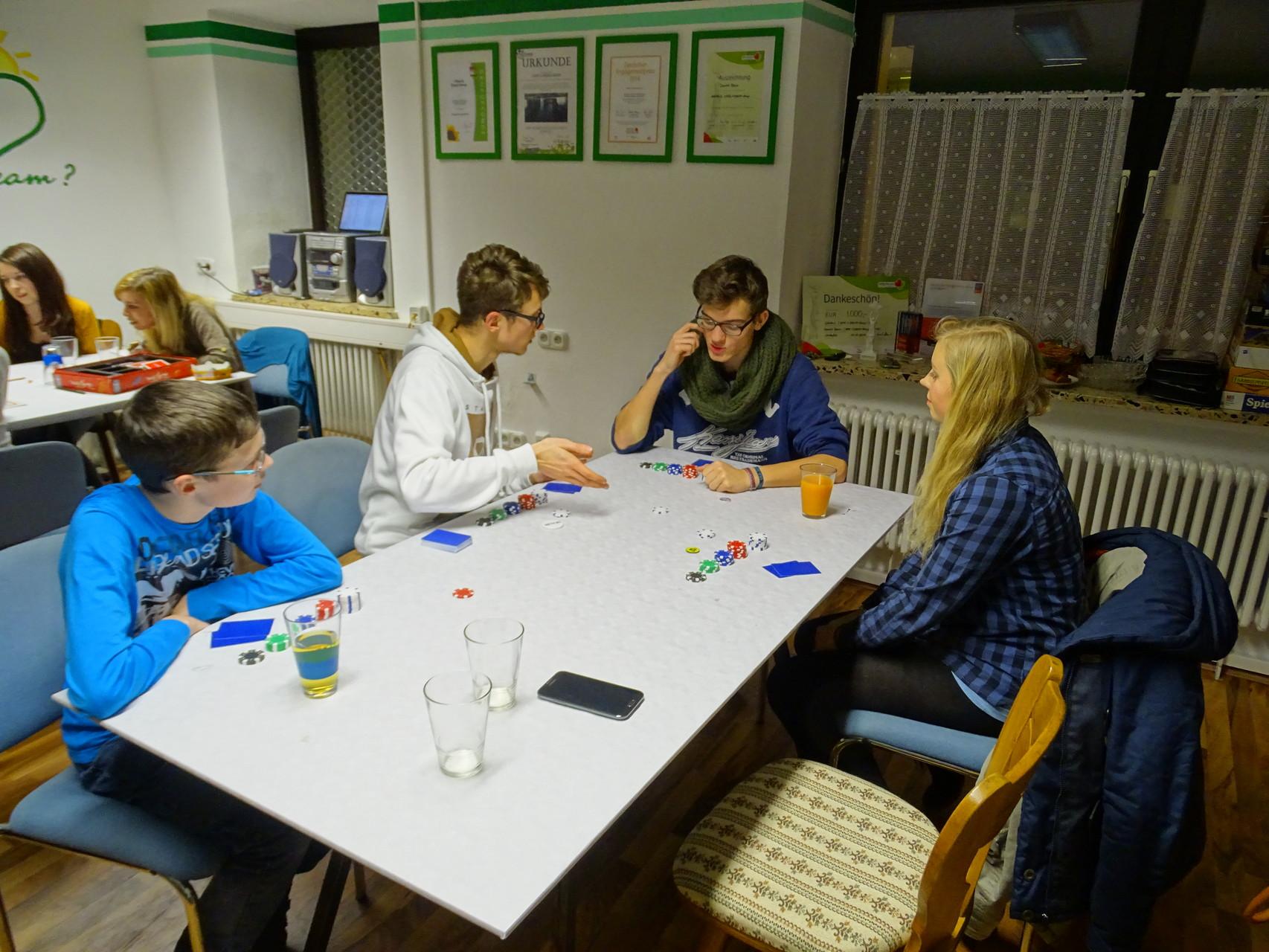 Der Klassiker: Pokerrunde!
