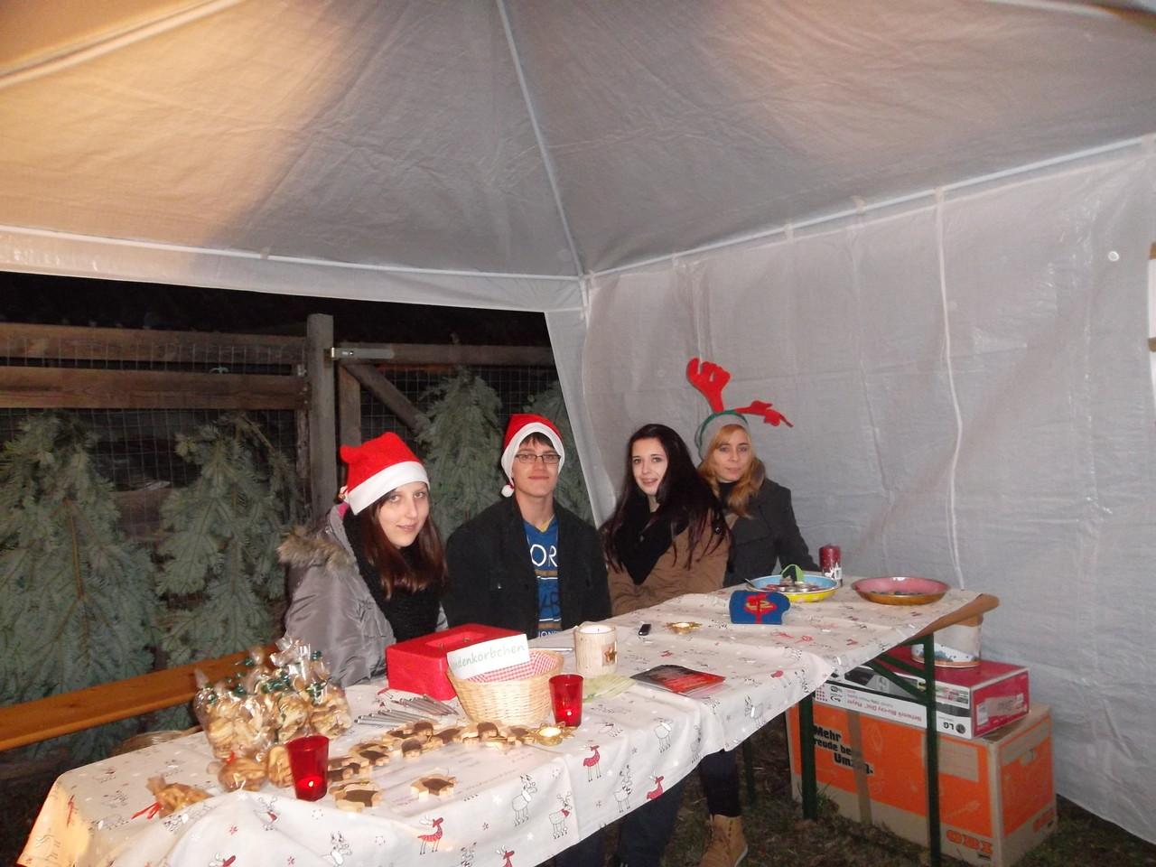 Melissa, Lukas, Franzi und Katha (der Hirsch :P) - nein, Spaß! :)