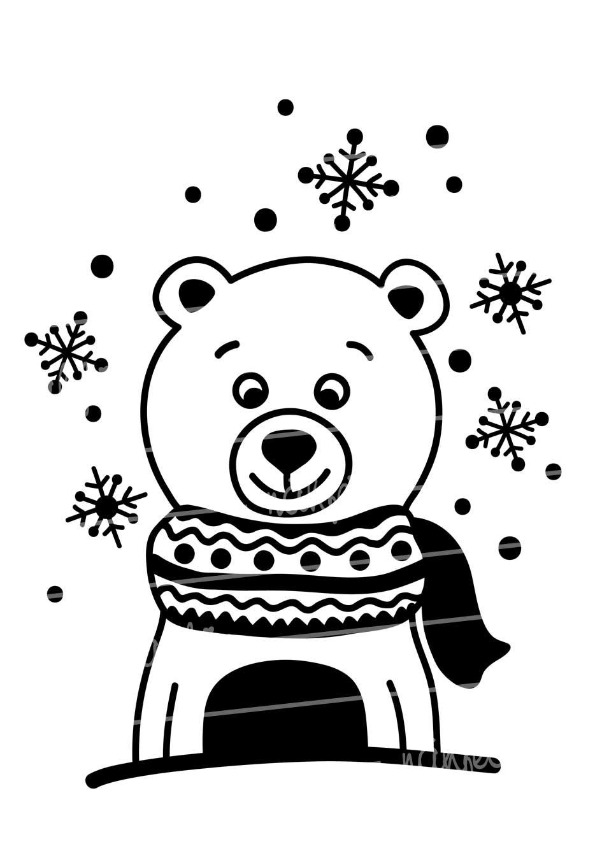 nähfein - Motiv Eisbär