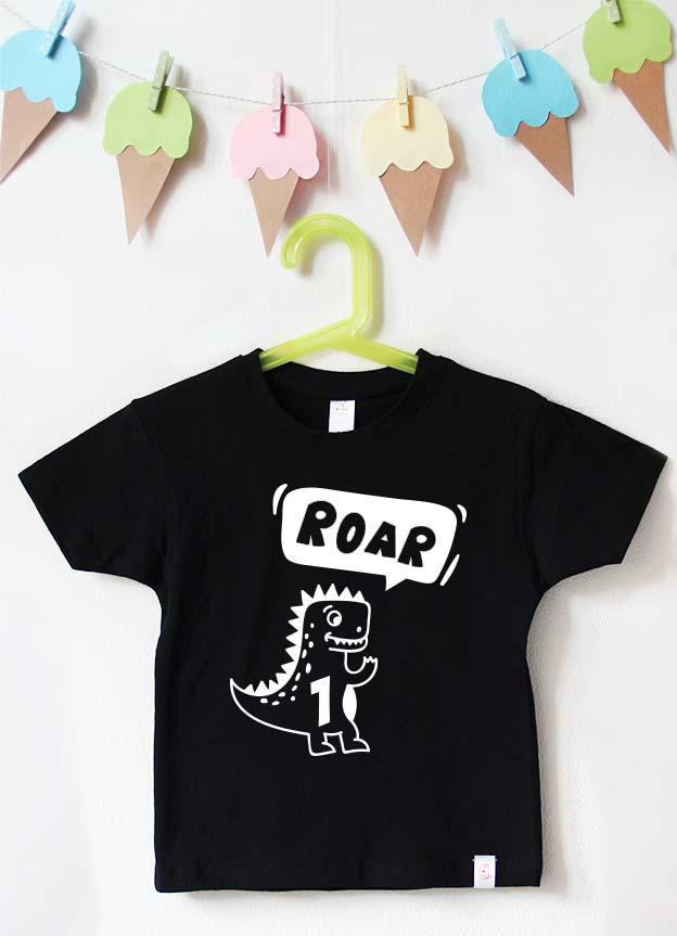Geburtstagsshirt | Dino - schwarz & weiß