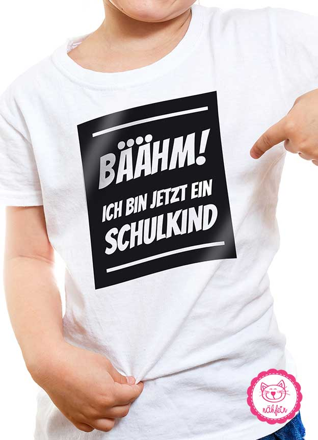 T-Shirt Einschulung | Bäähm - weiß & schwarz