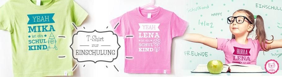lustige T-Shirts zur Einschulung für Kinder - nähfein
