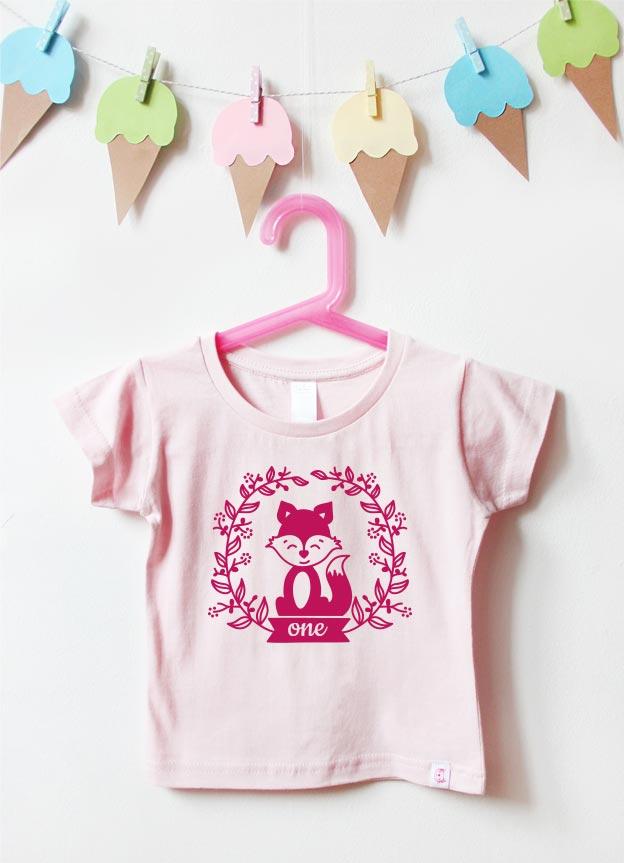 Geburtstagsshirt | Fuchs one - hellrosa & pink