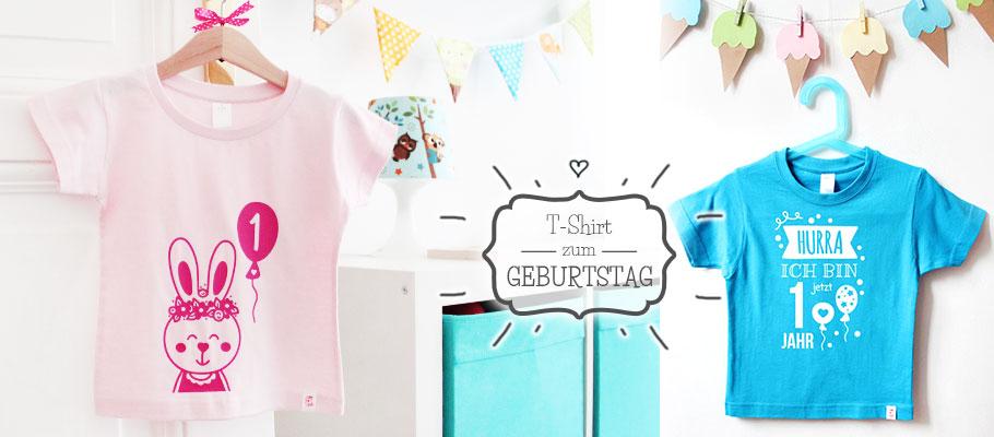 kreative Geburtstagsshirts für Kinder