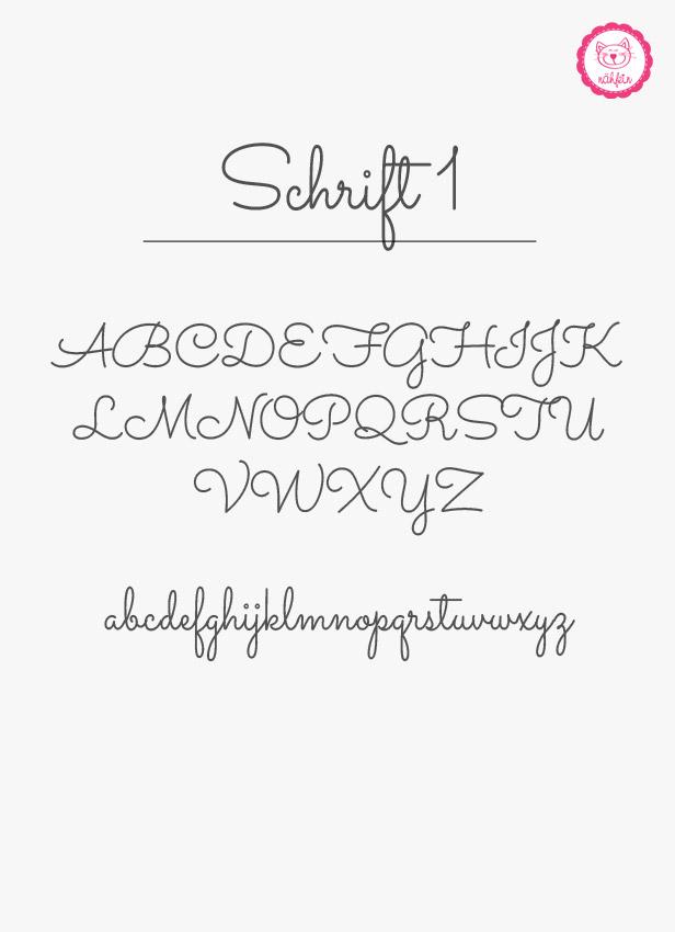 Schriftauswahl - Schrift 1