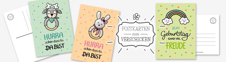niedliche Postkarten für Kinder - nähfein