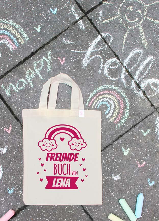 Freundebuch Tasche | Regenbogen - nähfein