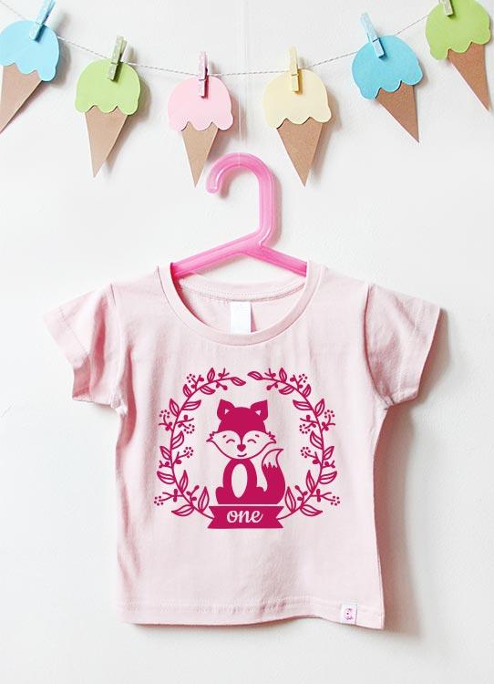 Babyshirt | Fuchs one - hellrosa & pink
