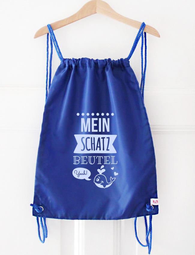 Turnbeutel | Schatzbeutel - blau & hellblau