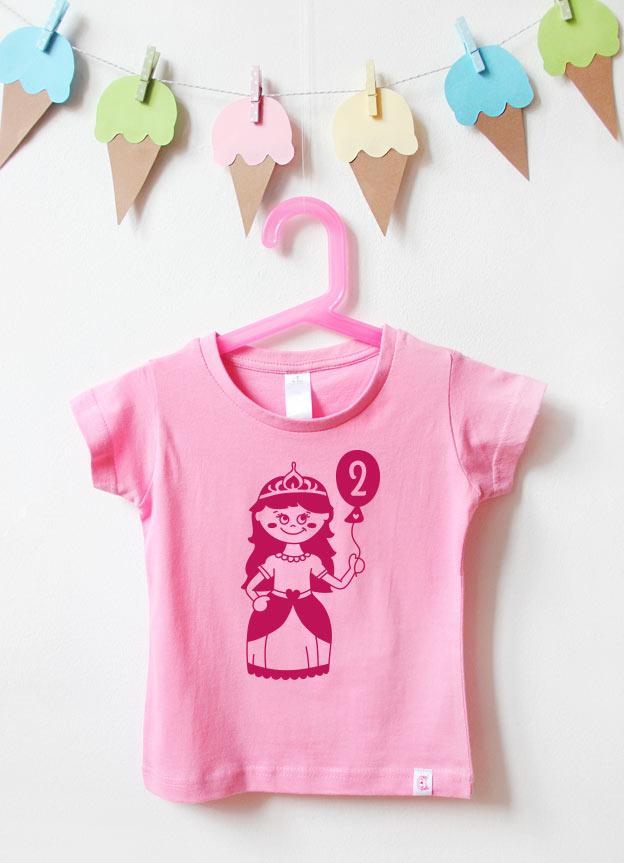 Geburtstagsshirt | Prinzessin 2 Jahre - rosa & pink