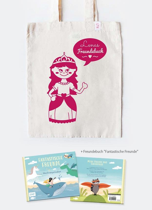 Freundebuch Set | Prinzessin - beige & pink