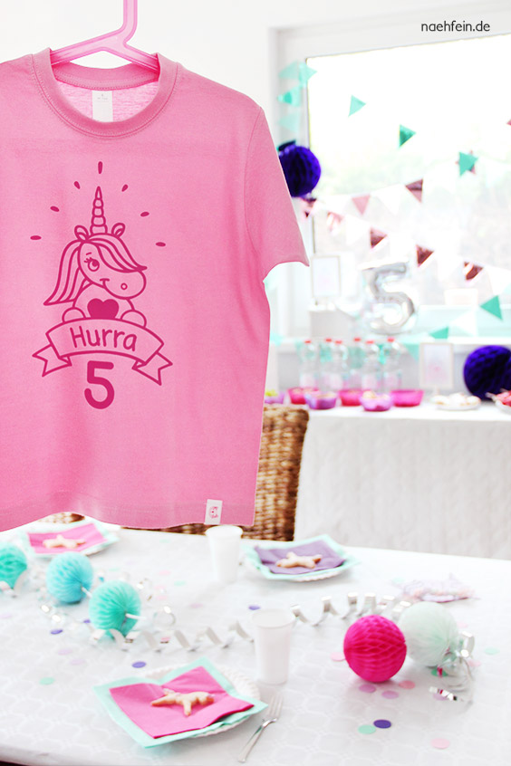 Geburtstagsshirt | Einhorn Party - rosa & pink - nähfein