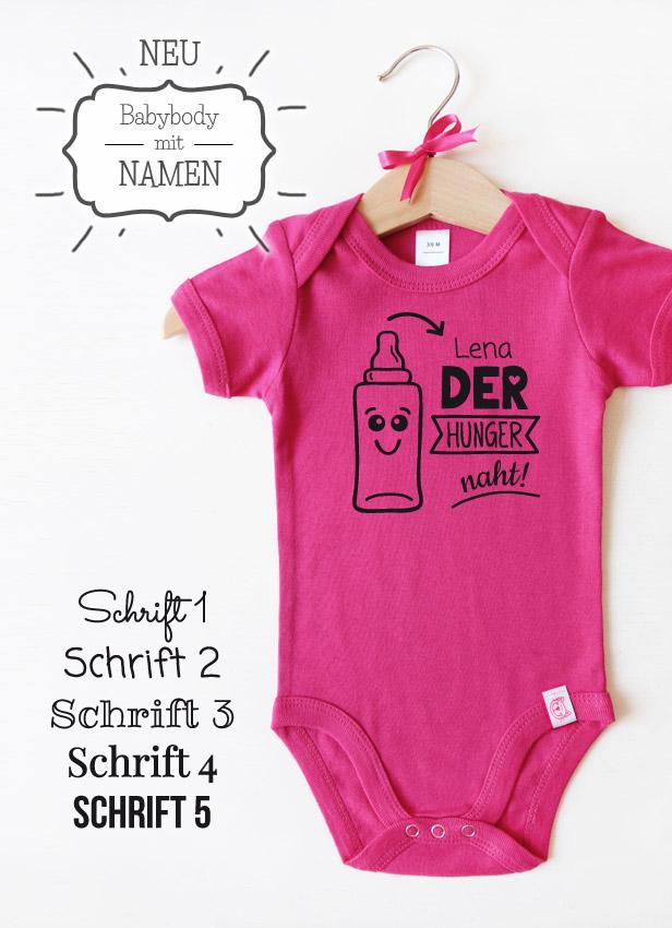 "Babybody pink - Motiv "" Der Hunger naht"""