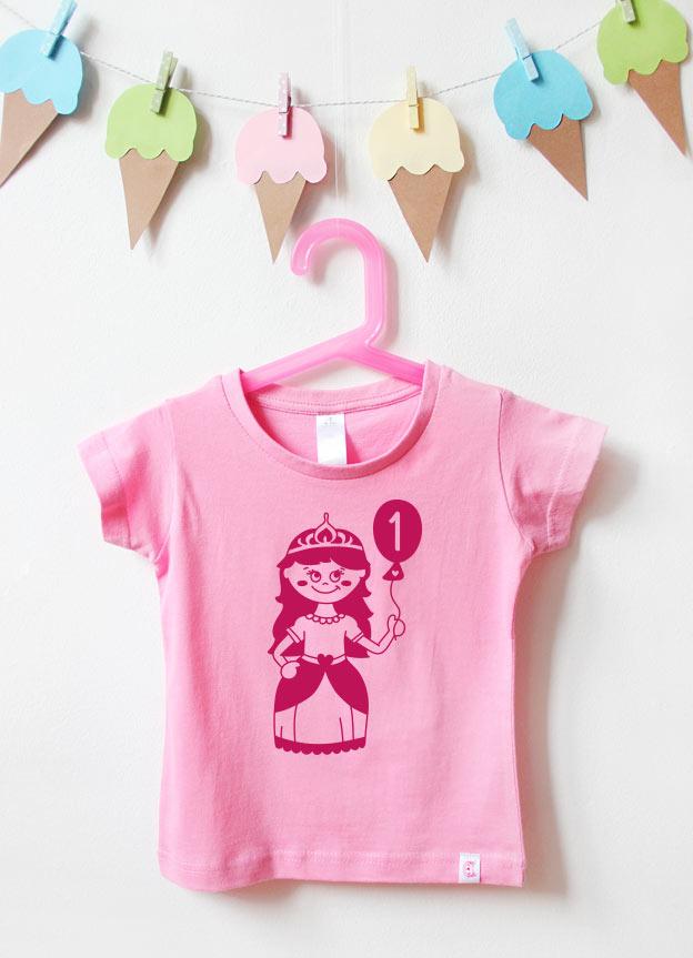 Geburtstagsshirt | Prinzessin 1 Jahr - rosa & pink