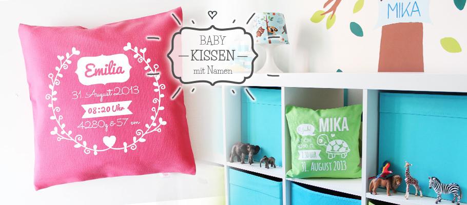 personalisierte Babykissen zur Erinnerung