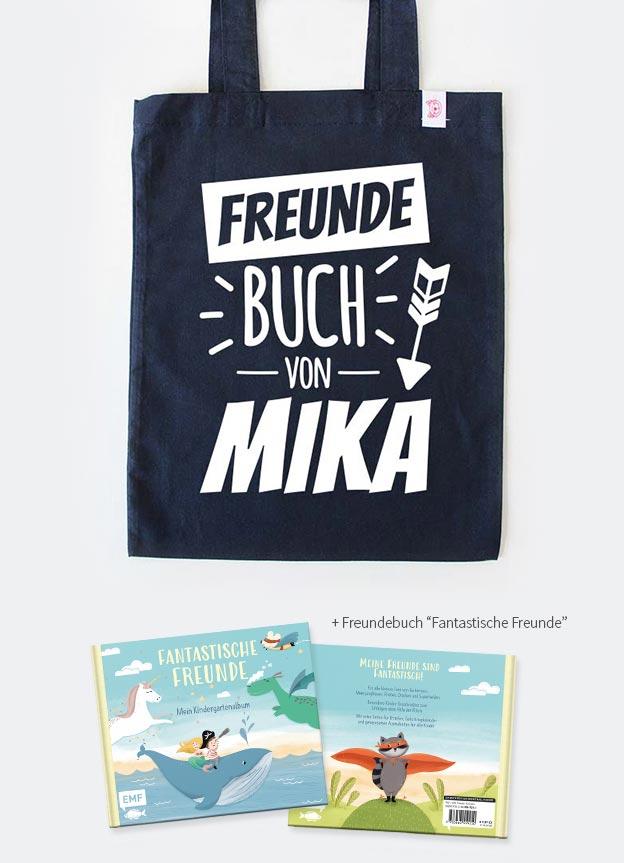 Freundebuch Set | Pfeil - dunkelblau & weiß