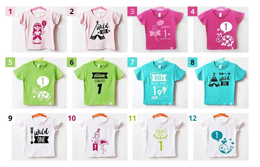 T-Shirt für Babys - Farbkombinationen - nähfein