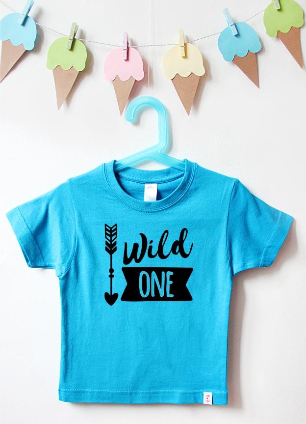Geburtstagsshirt | Wild One Boy - türkis & schwarz