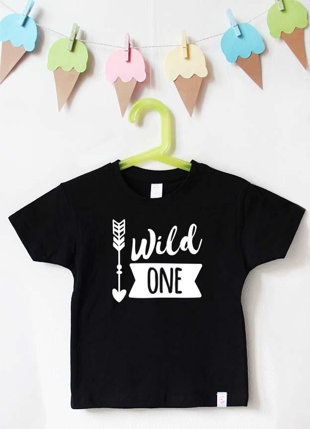 Geburtstagsshirt | wild one boy - schwarz & weiß