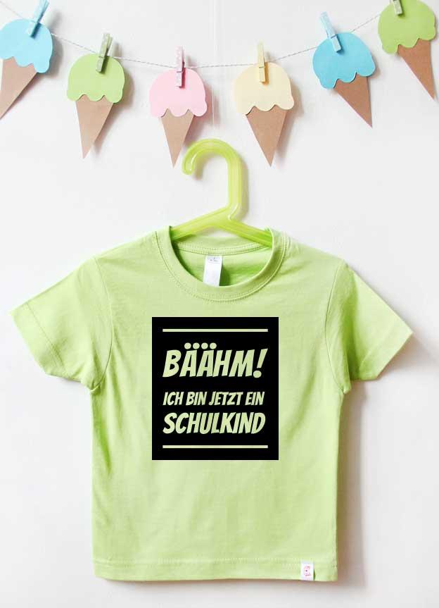 T-Shirt Einschulung | Bäähm - grün & schwarz