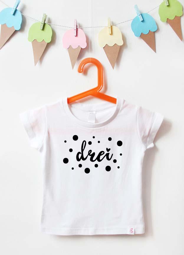 Geburtstagsshirt | Punkte 3 Jahre - weiß & schwarz