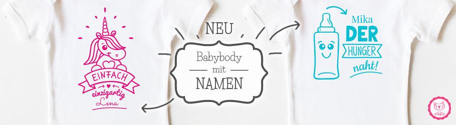 Baby Body mit Namen - nähfein