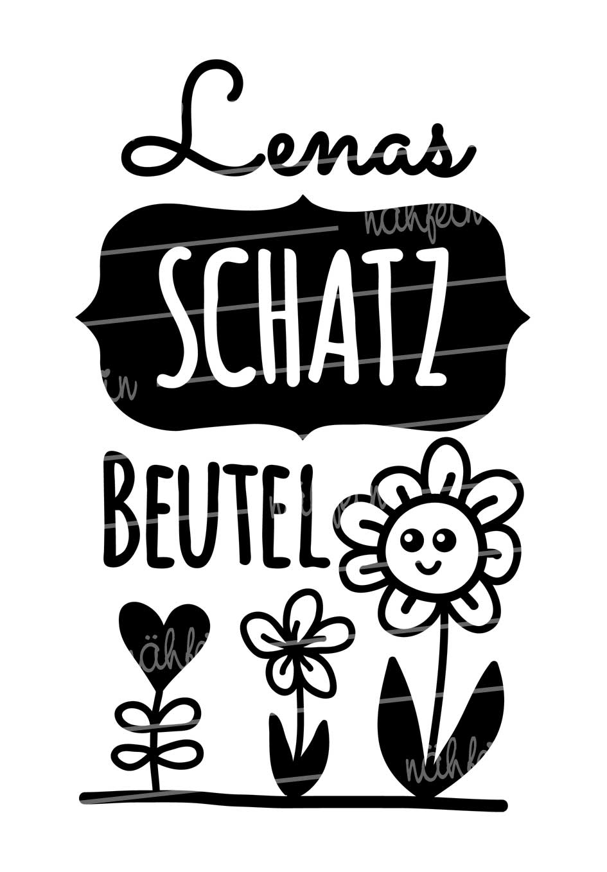 nähfein - Schatzbeutel Motiv Blume