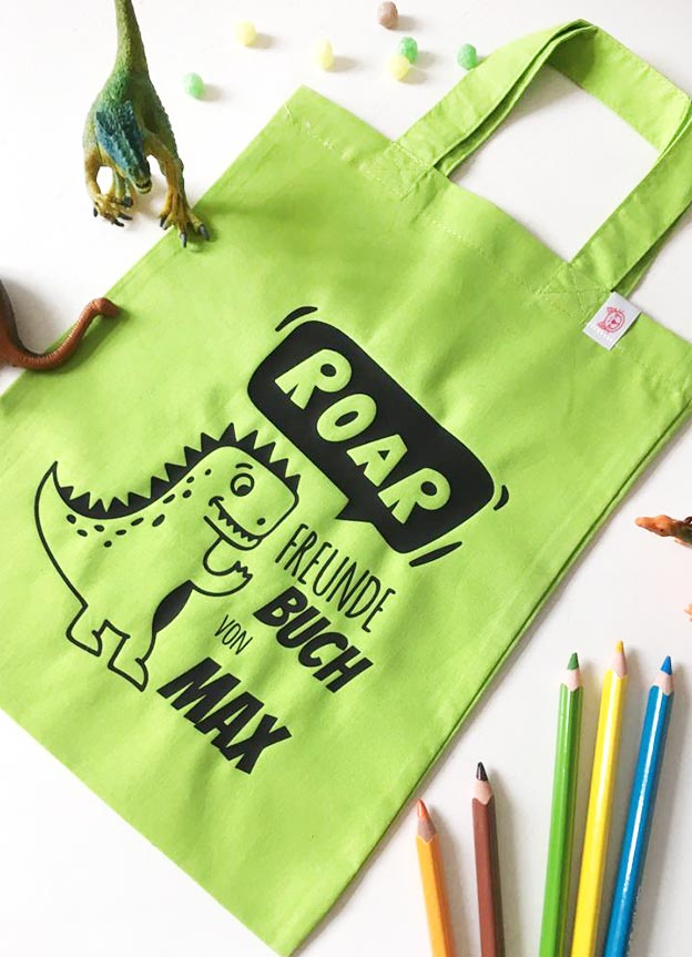 Freundebuch Tasche | Dino - nähfein