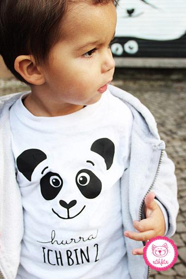 Geburtstagsshirt | Panda 1 Jahr - nähfein