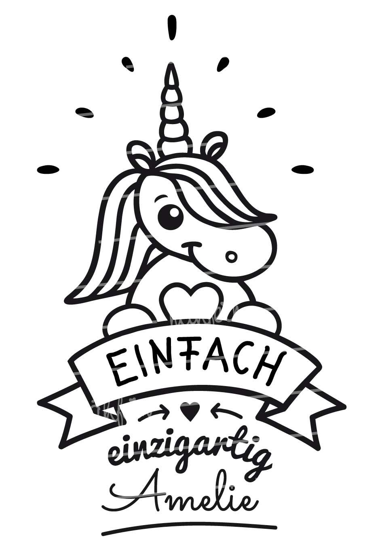 nähfein - Motiv Einhorn