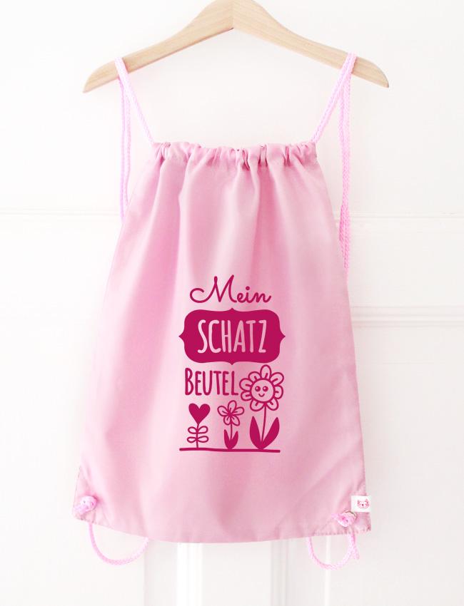 Turnbeutel | Schatzbeutel - rosa & pink