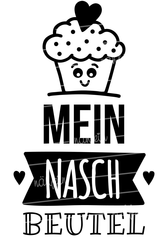 nähfein - Naschbeutel Motiv Cupcake